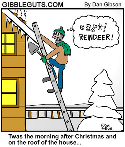 flying reindeer cartoon
