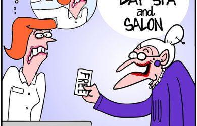 brazilian wax cartoon