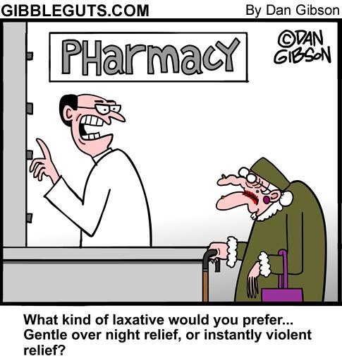 laxative cartoon