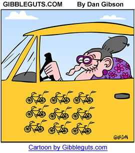 granny driver cartoon