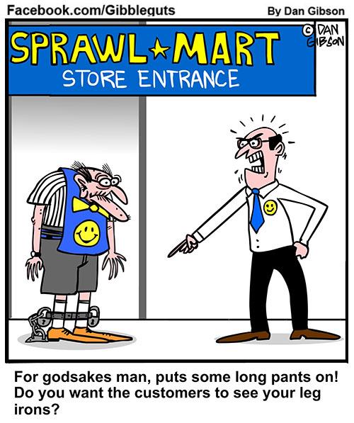 greeter cartoon