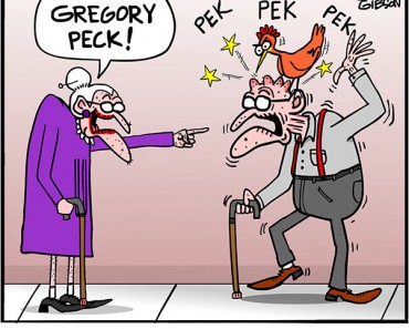 gregory peck cartoon