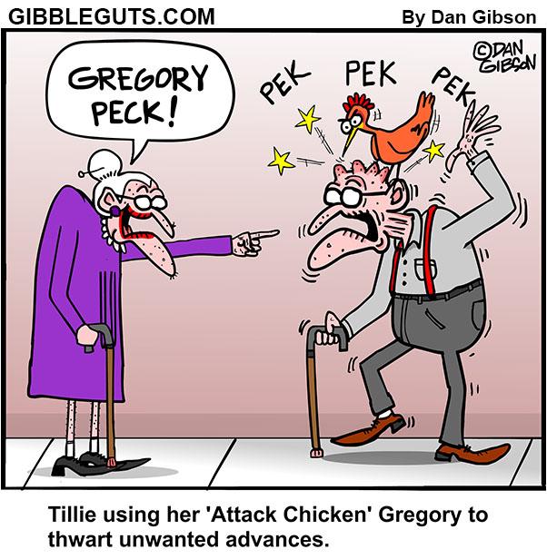 gregory peck cartoon