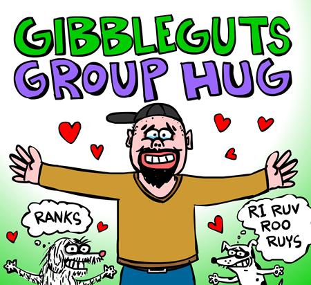 group hug cartoon