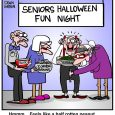 old people having halloween fun