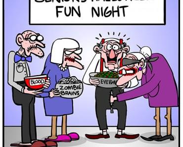 old people having halloween fun