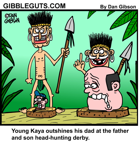 head hunter cartoon