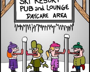 ski resort cartoon