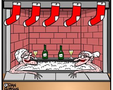 hottub christmas cartoon