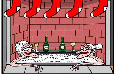 hottub christmas cartoon