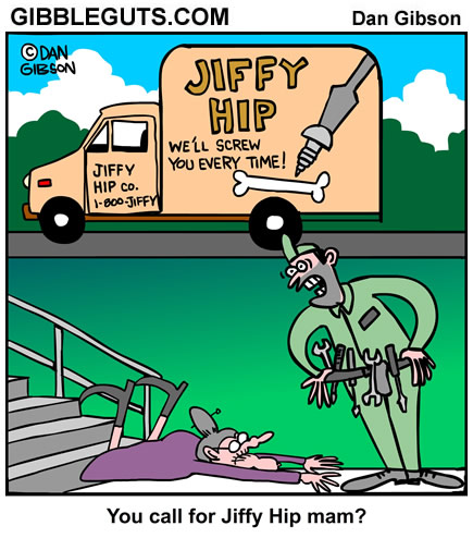 Hip Replacement Cartoon