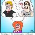 Prom Date Choices cartoon
