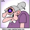 Magic eightball Glass Eye cartoons