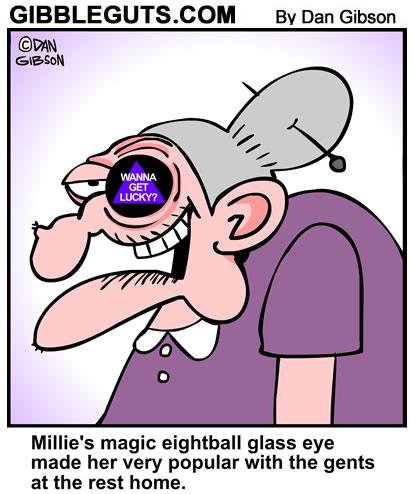 Magic eightball Glass Eye cartoons
