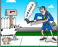 dog vacuum cartoon