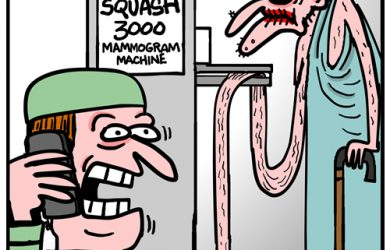 mammogram cartoon