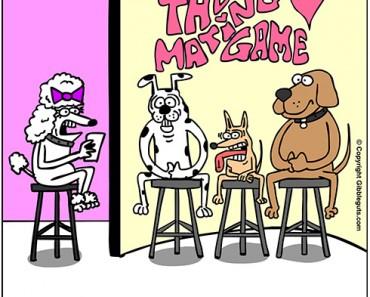 dog dating cartoon