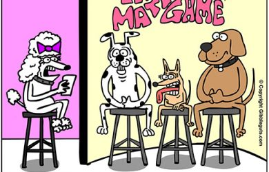 dog dating cartoon