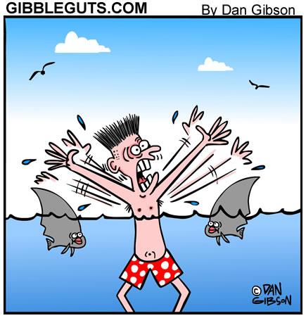 Shark cartoon from Gibbleguts.com
