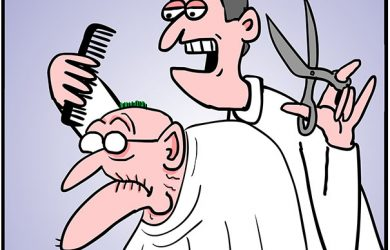 herb barber visit cartoon