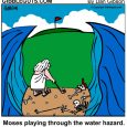 moses golf cartoon