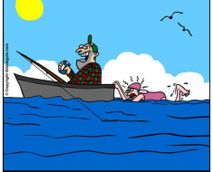 fishing Outboard motor cartoon