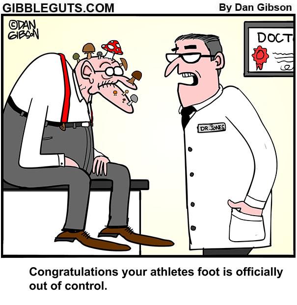athletes foot cartoon