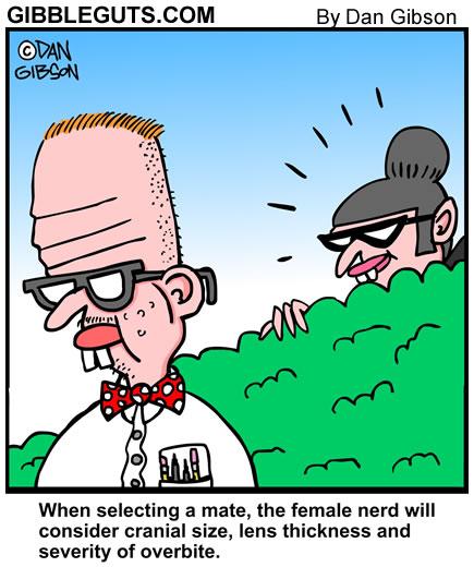 nerd cartoon from Gibbleguts.com