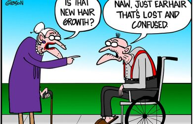 ear hair cartoon
