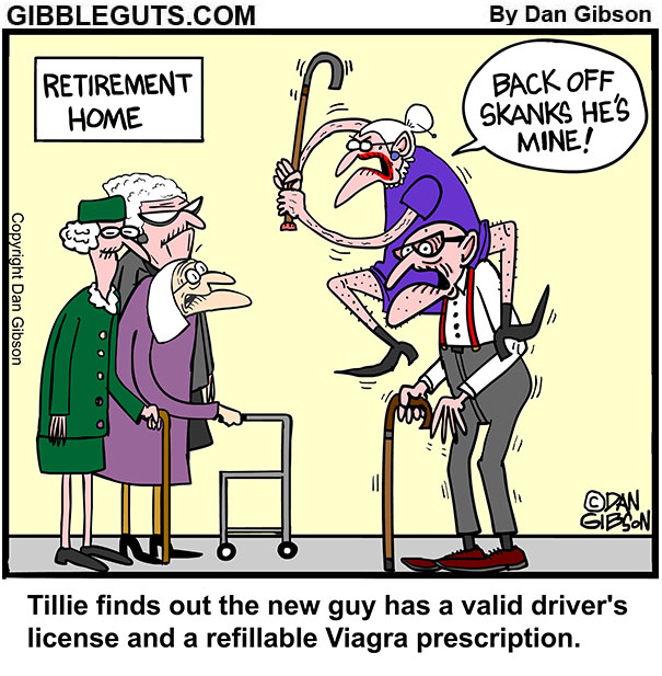 new old guy cartoon