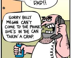Gross dad cartoon