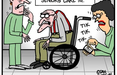 old folks home cartoon