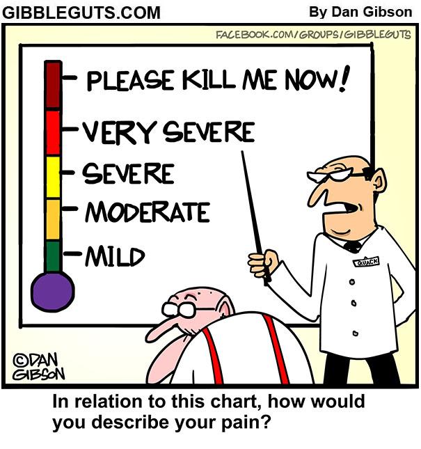 Pain scale cartoon