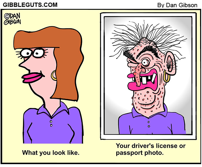 passport photo cartoon