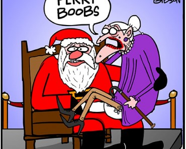santa old lady cartoon