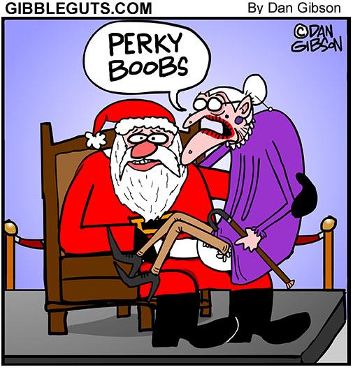 santa old lady cartoon