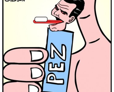 Charlie Sheen Pez cartoon