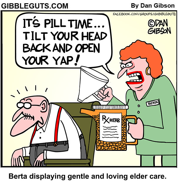 elder care cartoon