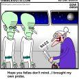 Alien abduction cartoon