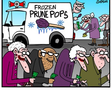 prune man cartoon