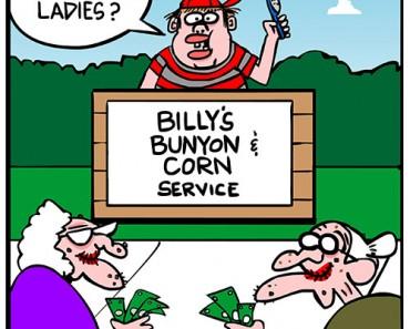 corns and bunyons cartoon
