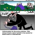 purse snatcher cartoon