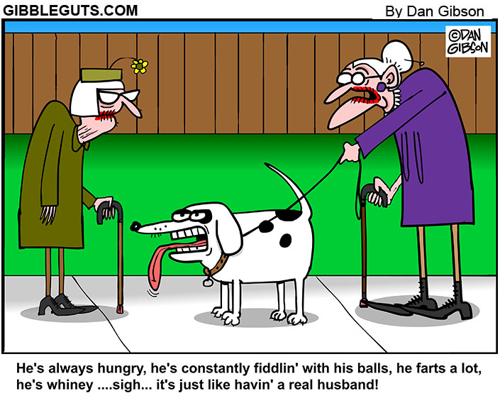 husband dog cartoon