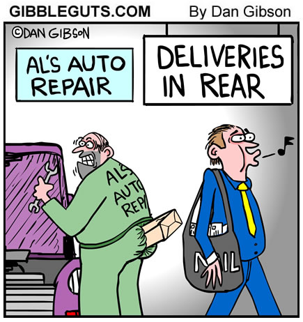 courier cartoon from Gibbleguts.com