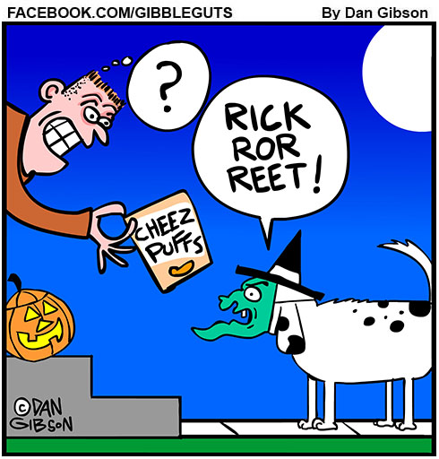 trick or treating dog