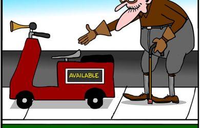 ride sharing cartoon