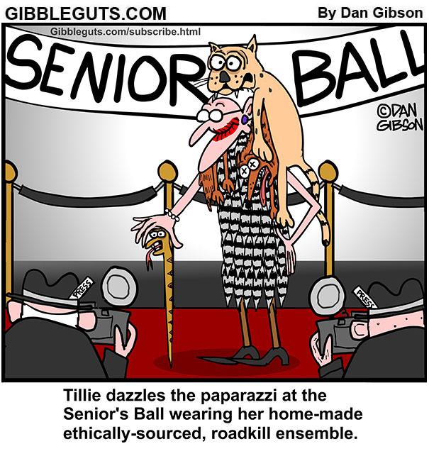 seniors gala cartoon