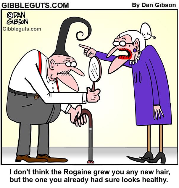 balding cartoon