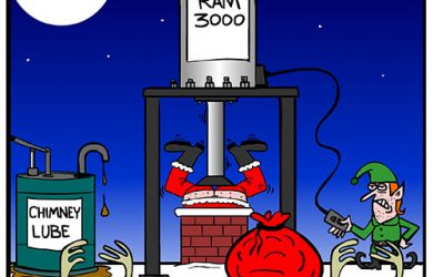santa chimney cartoon