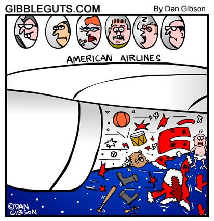 santa meets jet engine cartoon